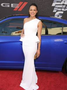 Michelle Rodriguez arrives at the 'Fast & The Furious 6' - Los Angeles Premiere at Gibson Amphitheatre on May 21, 2013 in Universal City, Calif.
