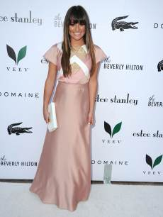 Lea Michele arrives at the The Beverly Hilton Unveils Redesigned Aqua Star Pool By Estee Stanley at The Beverly Hilton Hotel on May 22, 2013 in Beverly Hills, Calif.