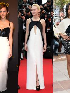 Black and white beauties at Cannes — Jennifer Lawrence, Emma Watson, Carey Mulligan, Zoe Saldana and Rooney Mara