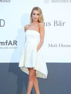 Rosie Huntington-Whiteley arrives at amfAR's 20th Annual Cinema Against AIDS at Hotel du Cap-Eden-Roc on May 23, 2013 in Cap d'Antibes, France