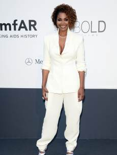 Janet Jackson attends amfAR's 20th Annual Cinema Against AIDS during The 66th Annual Cannes Film Festival at Hotel du Cap-Eden-Roc on May 23, 2013 in Cap d'Antibes, France