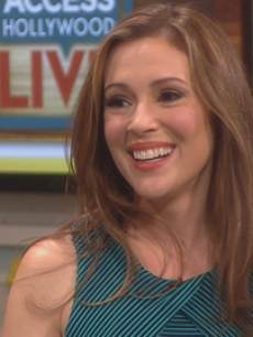 Alyssa Milano visits Access Hollywood Live, May 2013