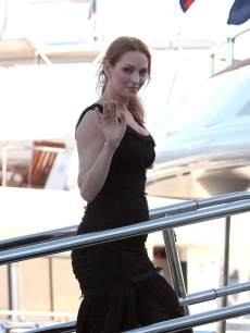Uma Thurman arrives at the yacht Oasis during the 66th Annual Cannes Film Festival on May 24, 2013 in Cannes, France