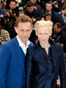 Tom Hiddleston and Tilda Swinton attend the 'Only Lovers Left Alive' Photocall during The 66th Annual Cannes Film Festival on May 25, 2013 in Cannes, France