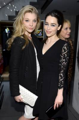 Natalie Dormer and Emilia Clarke attend Dolce & Gabbana, along with Giovanna Battaglia, celebrate the opening of the 5th Avenue Flagship Boutique, New York City, on May 4, 2013
