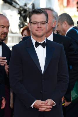 Matt Damon attends the 'Behind The Candelabra' premiere during The 66th Annual Cannes Film Festival at Theatre Lumiere on May 21, 2013 in Cannes, France