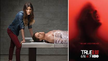 Jennifer Carpenter and Michael C. Hall from Season 8 of Showtime's 'Dexter' (left); HBO's 'True Blood' Season 6 key-art (right)