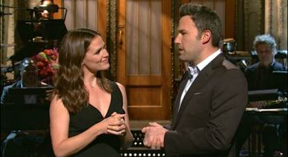 Jennifer Garner, Ben Affleck on 'SNL'