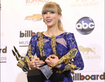 Taylor Swift attends the press room at the 2013 Billboard Music Awards held at MGM Grand Resort and Casino on May 19, 2013 in Las Vegas