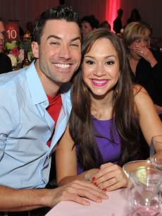 Ace Young and Diana DeGarmo attend Jane Seymour's 3rd annual Open Hearts Foundation celebration at a private residence on April 13, 2013