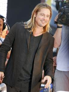 Brad Pitt attends 'World War Z' New York Premiere on June 17, 2013 in New York City