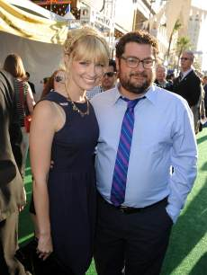 Beth Behrs and Bobby Moynihan attend the world premiere of Disney Pixar's 'Monsters University' at the El Capitan Theatre on June 17, 2013 in Hollywood