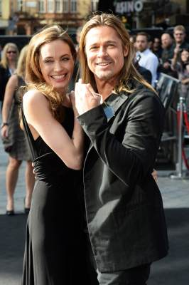 Angelina Jolie and Brad Pitt attend world premiere of 'World War Z' at the Empire Leicester Square on June 2, 2013 in London