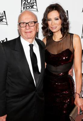 Rupert Murdoch and Wendi Deng attend the 20th Century Fox And Fox Searchlight Pictures' Academy Award Nominees Celebration at Lure on February 24, 2013 in Hollywood