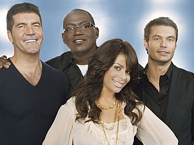 Idol Judges Simon Cowell Randy Jackson Paula Abdul Ryan Seacrest Fox