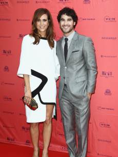 Kristen Wiig and Darren Criss attend the 'The Girl Most Likely' Paris Premiere As Part of The Champs Elysees Film Festival 2013 at Publicis Champs Elysees on June 18, 2013 in Paris