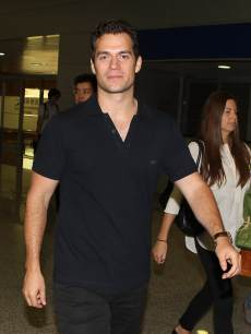 Henry Cavill arrives at airport on June 19, 2013 in Shanghai, China