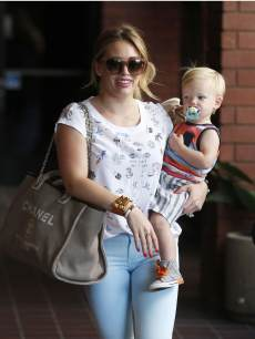 Hilary Duff spotted with son Luca in Los Angeles on June 19, 2013