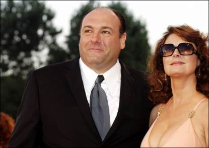 Susan Sarandon and James Gandolfini seen during Venice Film Festival in 2005