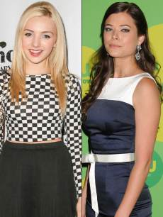 'Jessie' star Peyton List (L) and 'The Tomorrow People' star Peyton List (R)