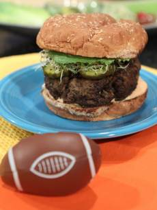 The Earth & Turf Burger from chef Richard Blais and Keri Glassman