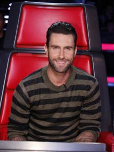 Adam Levine seen on NBC's 'The Voice'