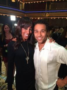 Access Hollywood's Shaun Robinson with Corbin Bleu after the 'Dancing' finale, November 26, 2013
