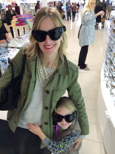 Ryan Patterson and daughter Harlow show off some stylish shades