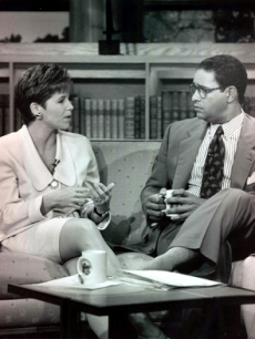 Katie Couric and Bryant Gumbel