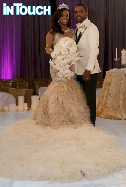 'The Real Housewives of Atlanta's' Kandi Burruss' wedding photo with Todd Tucker on April 4, 2014