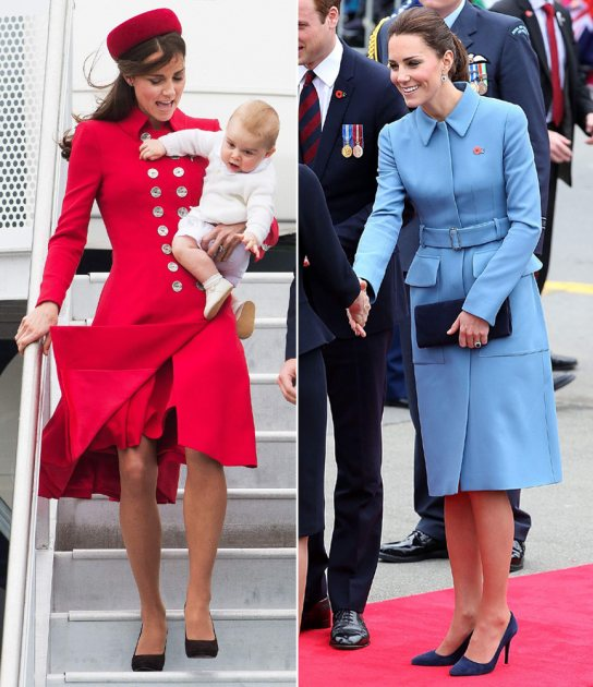 Kate Middleton opts for bold colors during her trip to New Zealand in April 2014 (Getty Images/Wireimage)