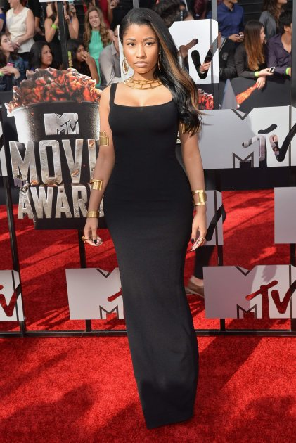 Nicki Minaj attends the 2014 MTV Movie Awards at Nokia Theatre L.A. Live on April 13, 2014 in Los Angeles (Getty Images)