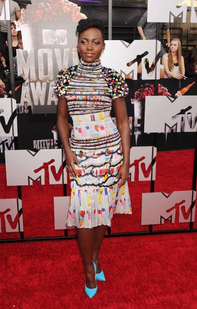 Lupita Nyong'o attends the 2014 MTV Movie Awards at Nokia Theatre L.A. Live on April 13, 2014 in Los Angeles (Wireimage)