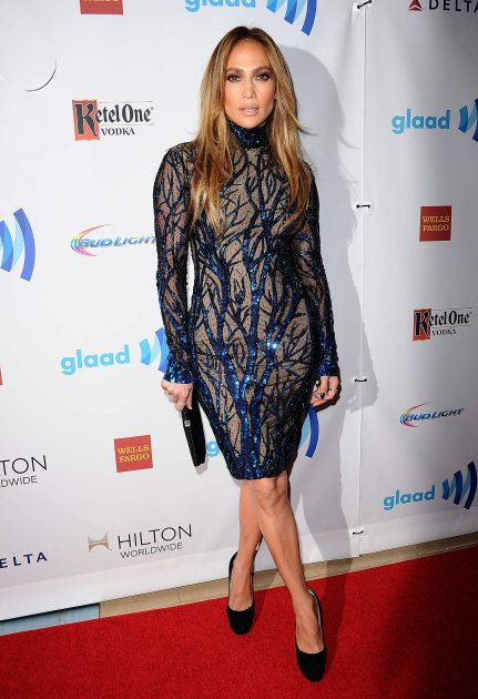 Jennifer Lopez attends the 25th annual GLAAD Media Awards at The Beverly Hilton Hotel on April 12, 2014 in Beverly Hills (FilmMagic)