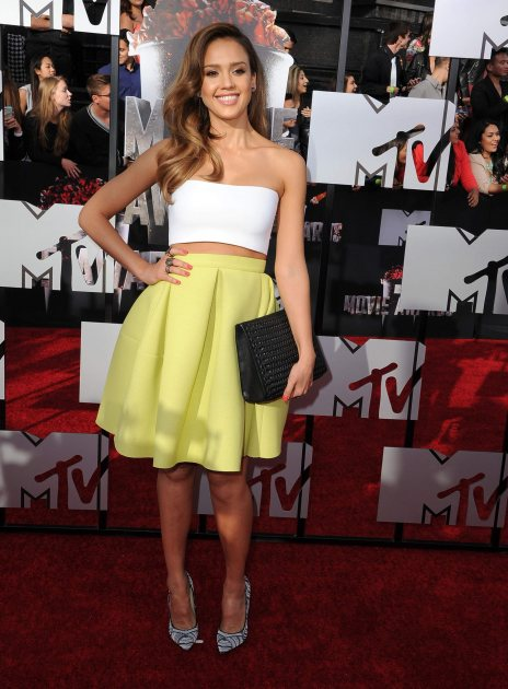 Jessica Alba arrives at the 2014 MTV Movie Awards at Nokia Theatre L.A. Live on April 13, 2014 in Los Angeles (Wireimage)