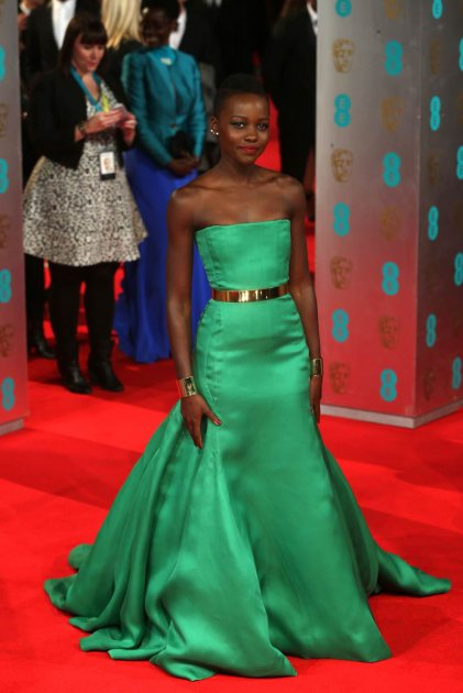 Lupita Nyong'o attends the EE British Academy Film Awards 2014 at The Royal Opera House on February 16, 2014 in London (Wireimage)