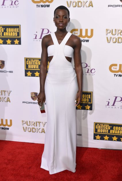 Lupita Nyong'o attends the 19th Annual Critics' Choice Movie Awards at Barker Hangar on January 16, 2014 in Santa Monica, Calif. (Wireimage)