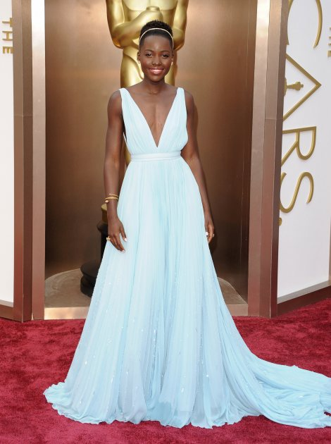 Lupita Nyong'o arrives at the 86th Annual Academy Awards at Hollywood & Highland Center on March 2, 2014 in Hollywood (FilmMagic)