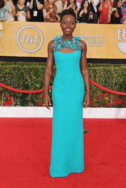Lupita Nyong'o arrives at the 20th Annual Screen Actors Guild Awards at The Shrine Auditorium on January 18, 2014 in Los Angeles (FilmMagic)