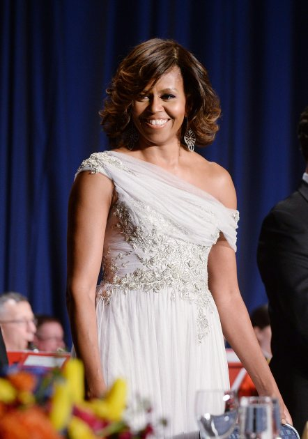 First Lady Michelle Obama attends the annual White House Correspondent's Association Gala at the Washington Hilton hotel May 3, 2014 in Washington, DC (Getty)