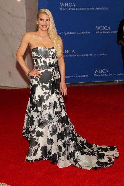 Jessica Simpson attends the 100th Annual White House Correspondents' Association Dinner at the Washington Hilton on May 3, 2014 in Washington, DC (WireImage)