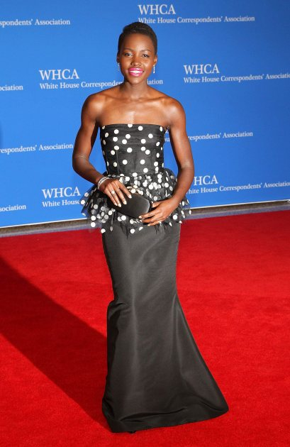 Lupita Nyong'o attends the 100th Annual White House Correspondents' Association Dinner at the Washington Hilton on May 3, 2014 in Washington, DC (Wireimage)