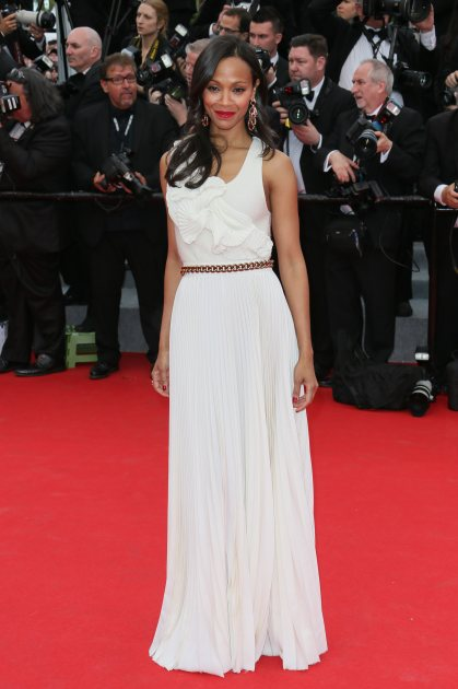 Zoe Saldana attends the opening ceremony and 'Grace of Monaco' premiere at the 67th Annual Cannes Film Festival on May 14, 2014 in Cannes, France (FilmMagic)