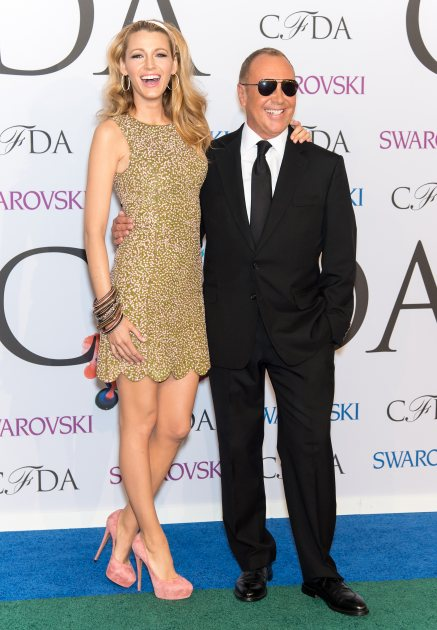 Blake Lively and Michael Kors attend the 2014 CFDA fashion awards at Alice Tully Hall, Lincoln Center on June 2, 2014 in New York City (Getty Images)