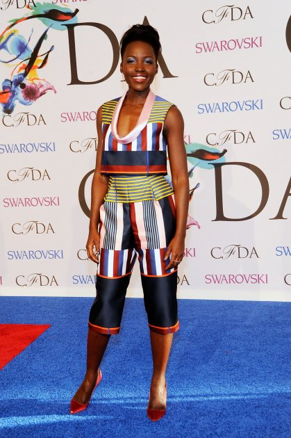 Lupita Nyong'o attends the 2014 CFDA fashion awards at Alice Tully Hall, Lincoln Center on June 2, 2014 in New York City (Getty Images)