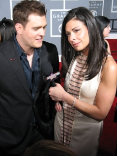 Stacy London runs into Michael Buble