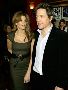 Hugh Grant and Jemima Kahn, NY, Feb. 2007