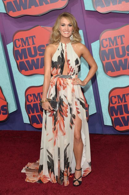 Carrie Underwood attends the 2014 CMT Music awards at the Bridgestone Arena on June 4, 2014 in Nashville (Getty Images)