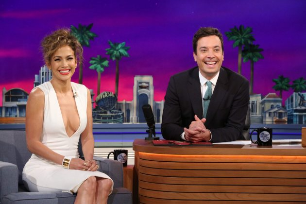 Jennifer Lopez visits 'The Tonight Show starring Jimmy Fallon' on June 16, 2014  (NBC)