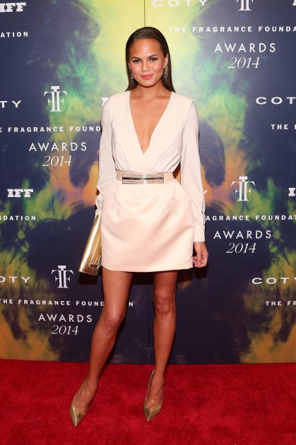 Chrissy Teigen attends 2014 Fragrance Foundation awards at Alice Tully Hall, Lincoln Center on June 16, 2014 in New York City (FilmMagic)